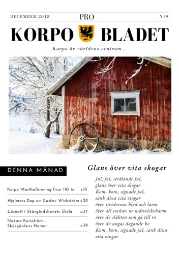 Korpo Bladet N19 front page