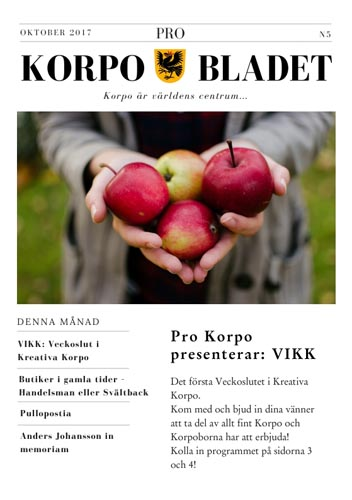 Korpo Bladet N5 front page